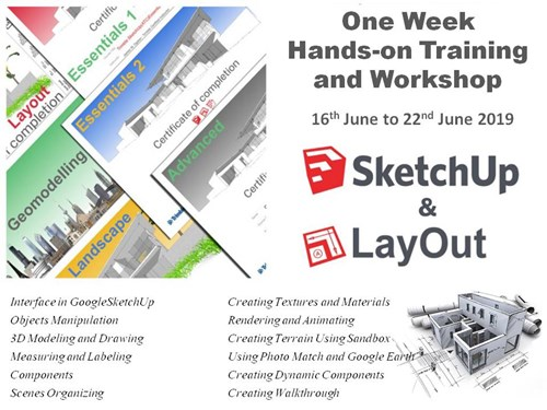 SketchUp Pro (Basic + Advance) Training Schedule (7 DAYS)